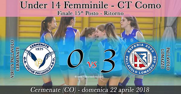 CO-U14f Finale 15^ - ritorno: Virtus Cermenate - Pallavolo Lomazzo