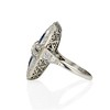 1.88ctw Art Deco style Saphhire and Diamond Dinner Ring 2