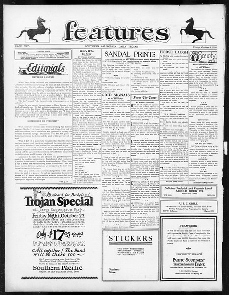 Daily Trojan, Vol. 18, No. 18, October 08, 1926