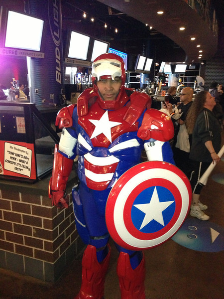 Even Capt. America wants a piece of the action!