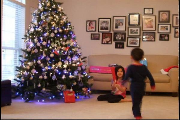 Opening Santa presents