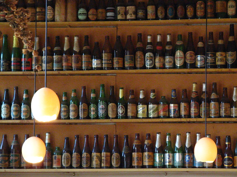 Bottles in the windmill.