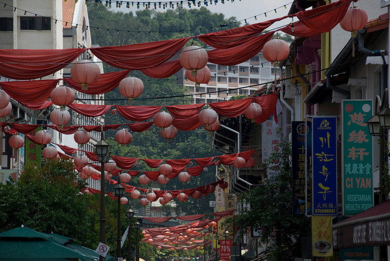 Closer shot of lantern bulbs at Chinatown - Singapore