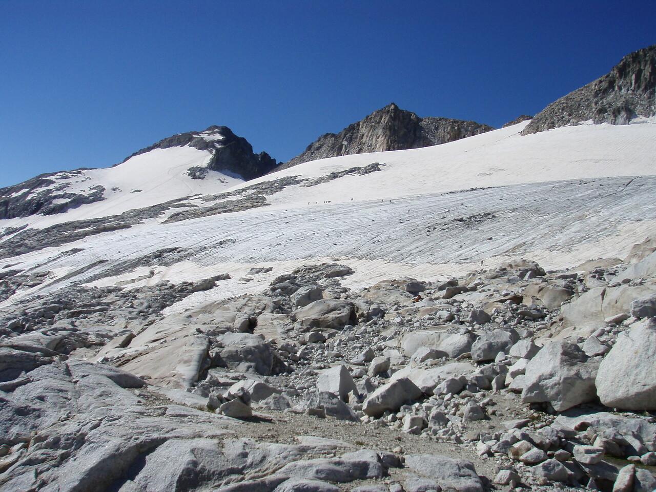 Pico Aneto 3404m from the Glaciar de Aneto