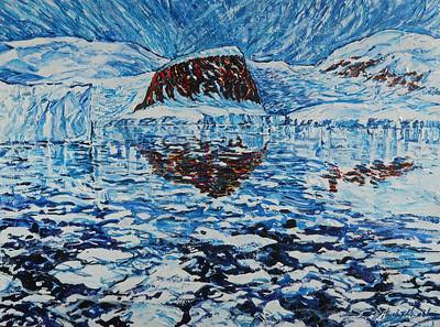 """Paradise Bay Antarctica"" (acrylic on canvas) by Theodore Heublein"