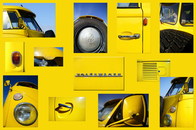 Yellow car - VW van