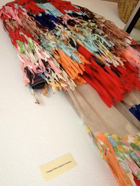 Junkanoo costume on display in the museum