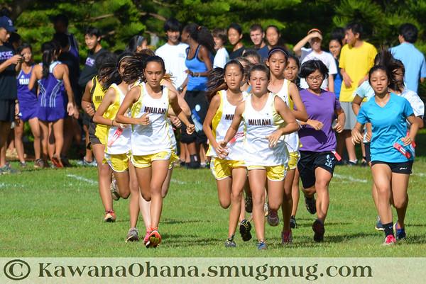 Mililani Invitational JV Girls Cross Country 2012