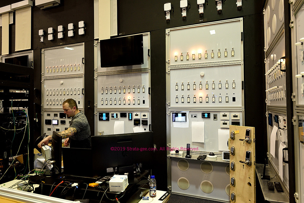 Another example of large scale testing for dimmers, motorized shades, touchpanels and more