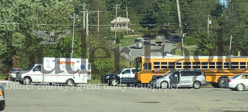 Photo by J.W. Johnson Jr.No students were on board when a school bus and van were involved in accident Tuesday on Route 68 in Jackson Township.