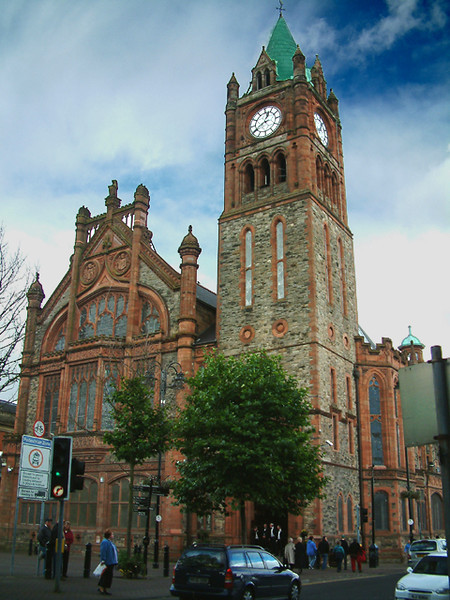 Derry - Large church in old downtown