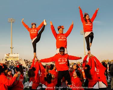 Varsity Cheer at Freedom Football Game 11/17/18