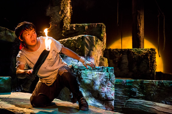 Eric Sharp in Jungle Book at Children's Theatre Company