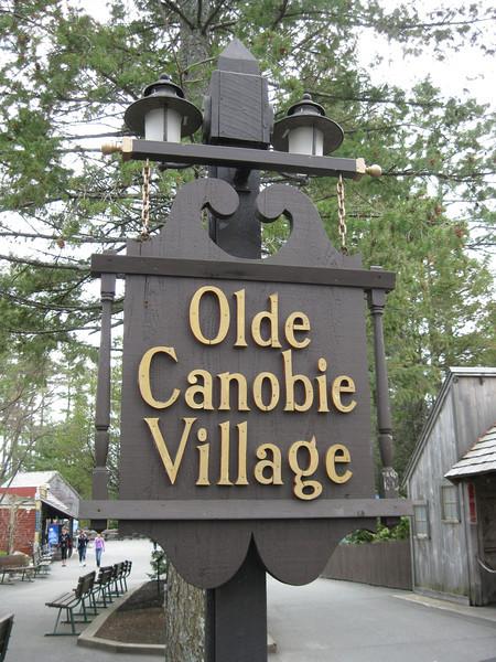 Olde Canobie Village sign.