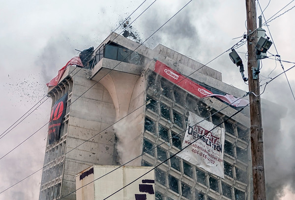 Executive Park Hotel Implosion  - 11/08/2014