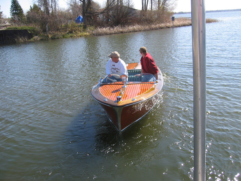 Boat launched on 4/23/2010