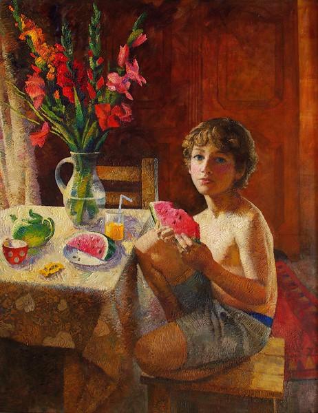 """August"" (oil on canvas) by Natasha Bakovic"
