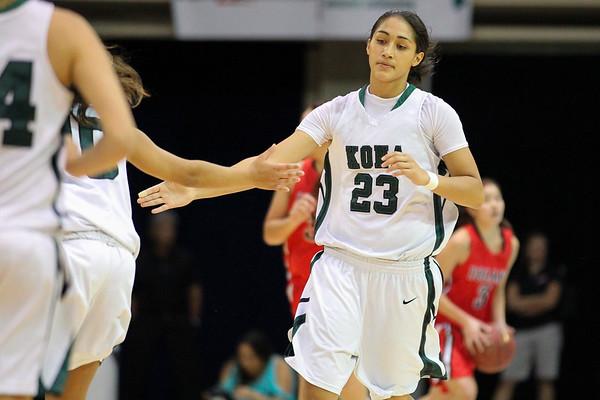 2012 HHSAA Girls DI Championship - 'Iolani vs. Konawaena