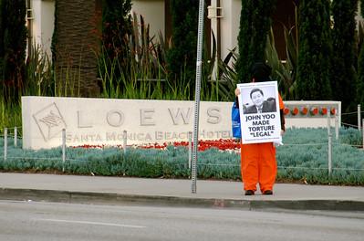 John Yoo protest