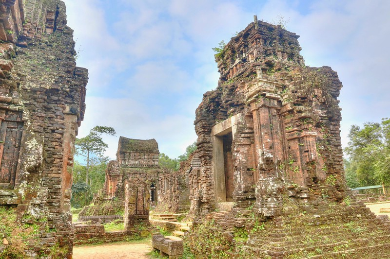 Today only about 20 structures survive where at least 68 once stood. Sadly, many were destroyed during the Vietnam War when US B52s carpet-bombed the region in August 1969. - Mỹ Sơn Sanctuary