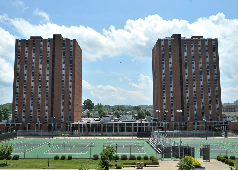 Twin Towers and Marshall Tennis Courts