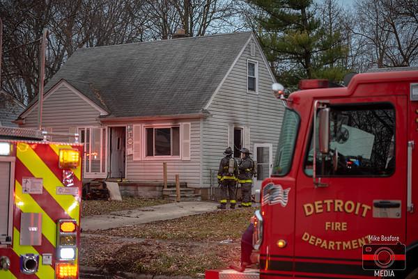 Detroit MI, House Fire 1-4-2020