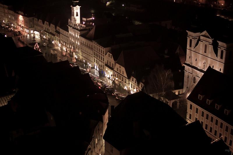 Blick vom Kirchenturm auf die Altstadt