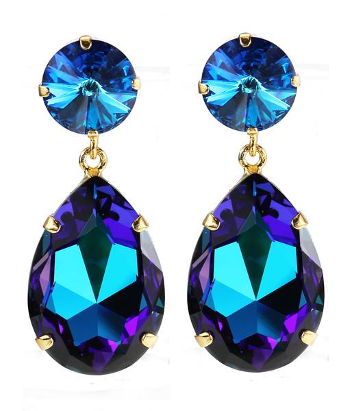 Perfect Drop Earrings / Capri + Bermuda Blue