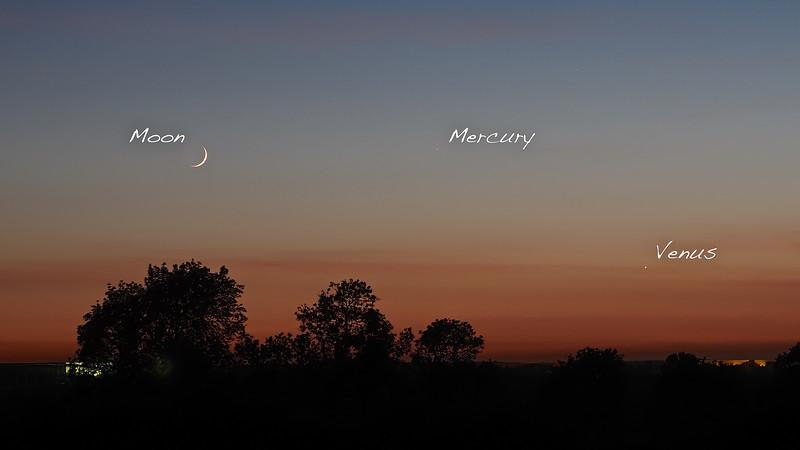 Crescent, Mercury & Venus