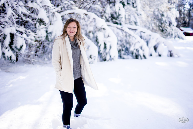 Megan in the Snow