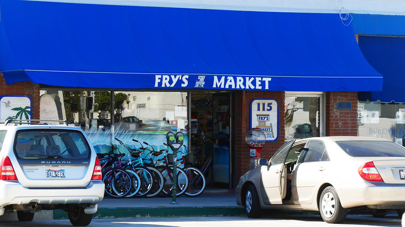 Fry's Market on the corner of 15th Street and Balboa Blvd.  It's been there for over 50 years.  This is where we used to stock up on snacks before heading out to the sand.
