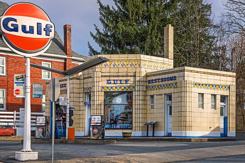 DUNKLES ANTIQUE ESSO STATION-BEDFORD PA