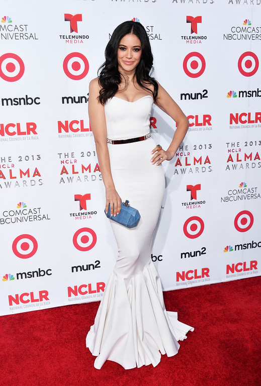 . PASADENA, CA - SEPTEMBER 27:  Actress Edy Ganem arrives at the 2013 NCLR ALMA Awards at Pasadena Civic Auditorium on September 27, 2013 in Pasadena, California.  (Photo by Alberto E. Rodriguez/Getty Images for NCLR)