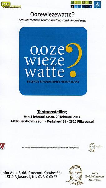 """Opening tentoonstelling """"Ooze Wieze Watte?"""""""
