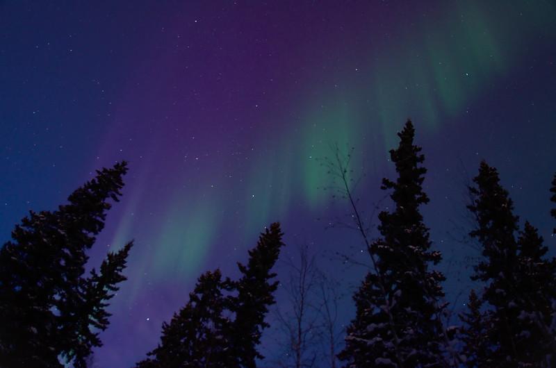 Aurora in twilight