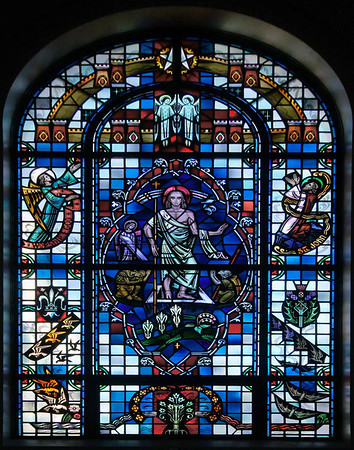 Stained glass of faith