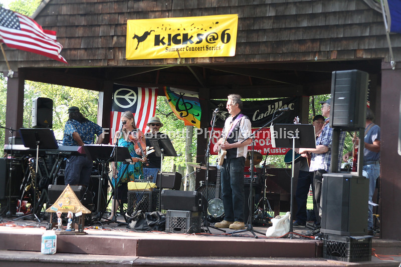 Havre Daily News / Floyd Brandt  Sax Cadillac performs at Kicks@6 Summer Concert Series in Pepin Park Tuesday