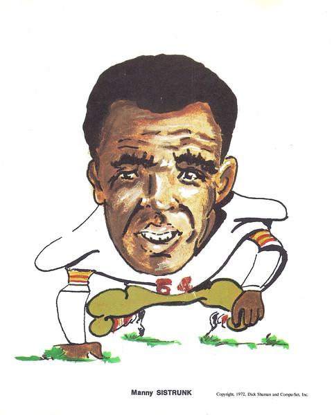 1972 Compu-Set Redskins Manny Sistrunk