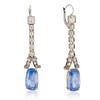 13.69ctw Art Deco Sapphire and Diamond Era Pendants 0