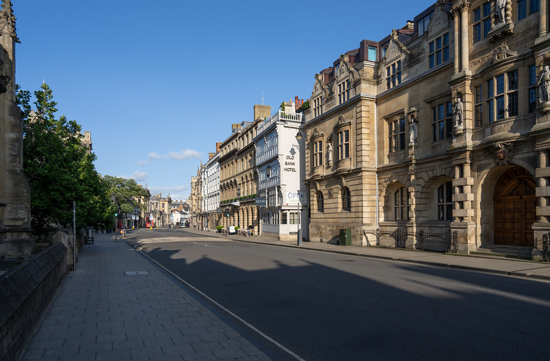 Location of the Old Bank Hotel, Oxford