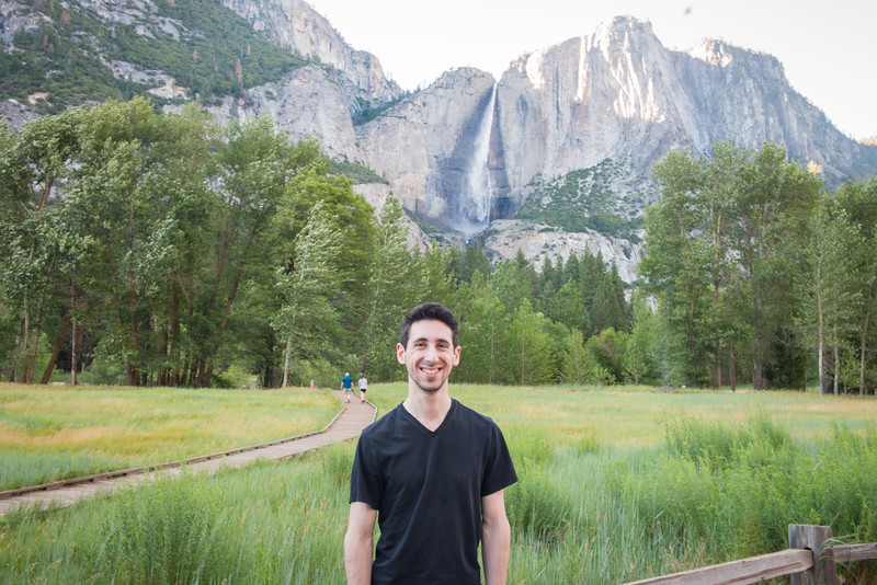 Ben got to see Yosemite Falls with water in it!