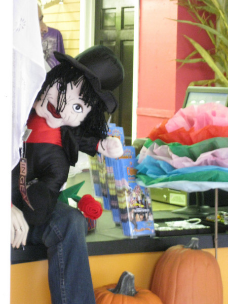 The Reckless Woman gift shop was selling these creepy-looking Michael Jackson dolls!