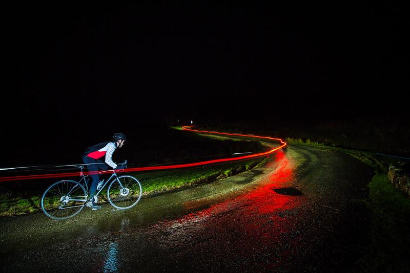 A wet night ride...