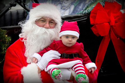 Charlotte and Santa