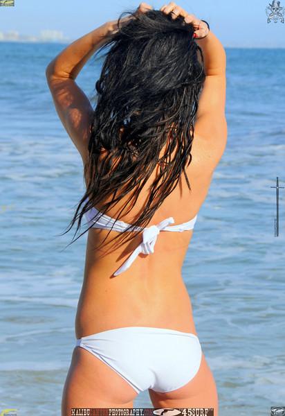 beautiful woman sunset beach swimsuit model 45surf 645.09...