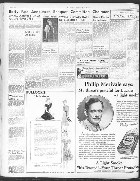 Daily Trojan, Vol. 28, No. 109, April 06, 1937