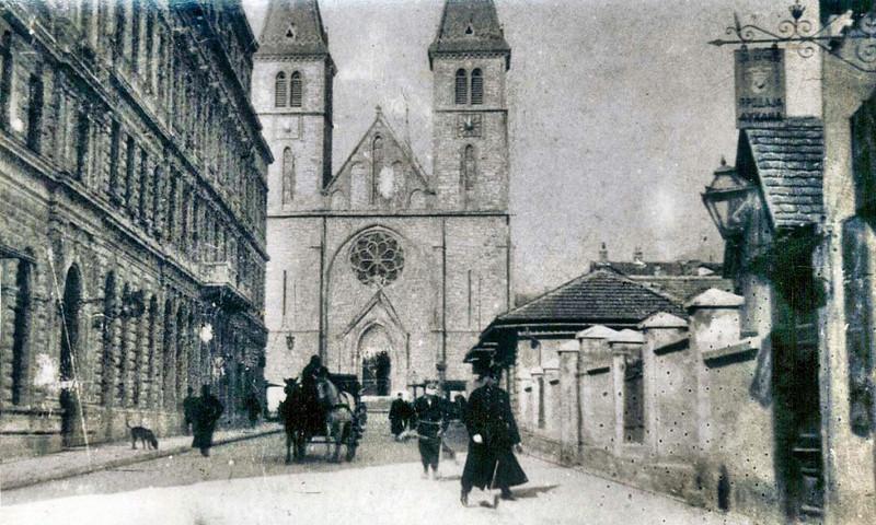Katedrala i dio današnje Štrosmajreve ulice oko 1895. godine