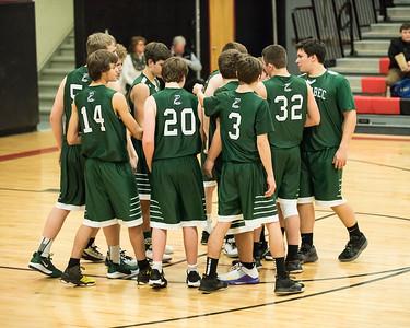 2019 Boys Varsity Basketball:  Hall-Dale vs Carrabec