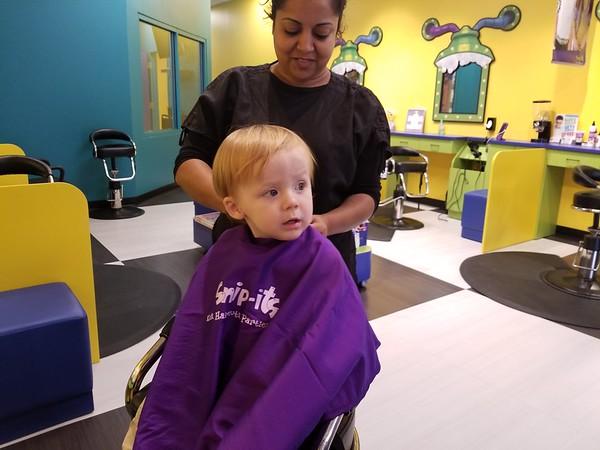 Stephen's 1st haircut 10.29.17