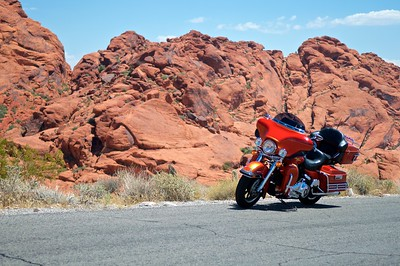2008 HD Electra Glide at Red Rock Canyon
